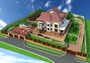 Визуализация и дизайн интерьера помещений,  фасада зданий,  ландшафта